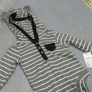 Long sleeve hooded onesie